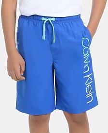 Calvin Klein Big Boys Classic Logo Volley Swimsuit