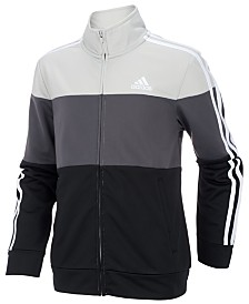 adidas Big Boys Colorblocked Tricot Track Jacket