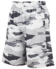 adidas Big Boys Camo-Print Woven Running Shorts
