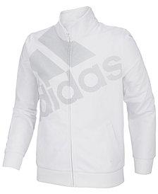 adidas Big Girls Tricot Logo Track Jacket