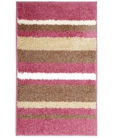 Avalon Non-Slip Stripe Shaggy Bath Mat