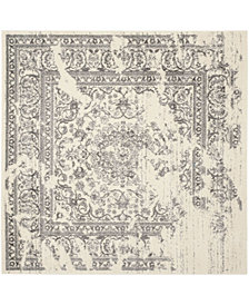 Safavieh Adirondack Ivory and Silver 6' x 6' Square Area Rug