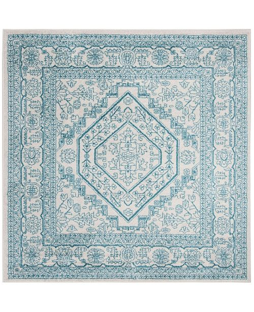 Safavieh Adirondack Ivory and Teal 6' x 6' Square Area Rug