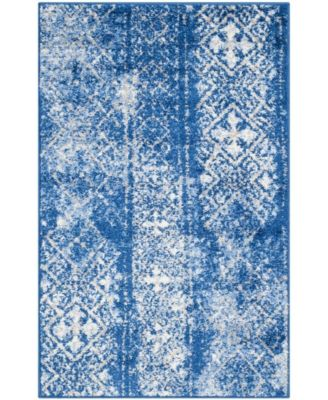 Adirondack Silver and Blue 8' x 10' Area Rug