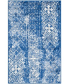 "Adirondack Silver and Blue 2'6"" x 4' Area Rug"