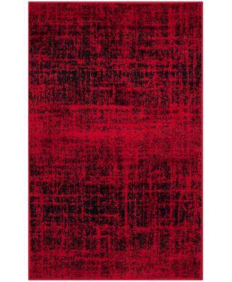 Adirondack Red and Black 6' x 6' Round Area Rug