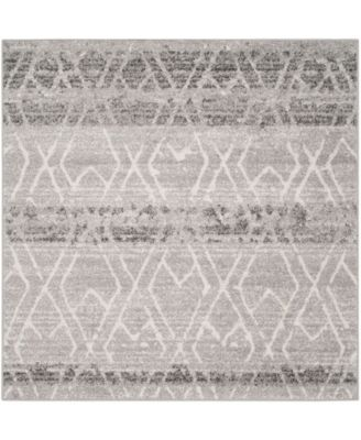 Adirondack Silver and Ivory 6' x 6' Square Area Rug