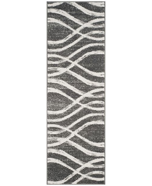 "Safavieh Adirondack Charcoal and Ivory 2'6"" x 8' Runner Area Rug"
