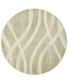 Adirondack Sage and Cream 6' x 6' Round Area Rug