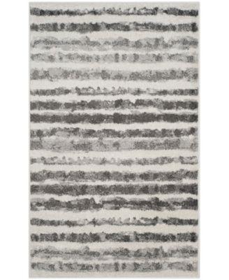 Adirondack Ivory and Charcoal 3' x 5' Area Rug