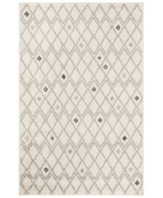 Adirondack Ivory and Gray 6' x 9' Area Rug