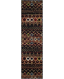 "Safavieh Amsterdam Black and Multi 2'3"" x 8' Area Rug"