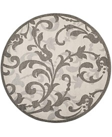 Safavieh Amherst Ivory and Gray 7' x 7' Round Area Rug