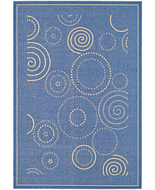 "Safavieh Courtyard Blue and Natural 6'7"" x 9'6"" Sisal Weave Area Rug"