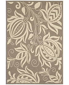 "Safavieh Courtyard Brown and Natural 6'7"" x 9'6"" Area Rug"