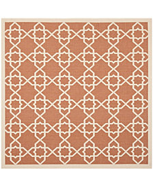 """Safavieh Courtyard Terracotta and Beige 6'7"""" x 6'7"""" Square Area Rug"""