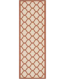 "Safavieh Courtyard Beige and Terracotta 2'3"" x 6'7"" Sisal Weave Area Rug"