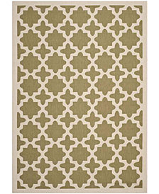 "Safavieh Courtyard Green and Beige 6'7"" x 9'6"" Sisal Weave Area Rug"