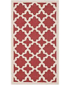 "Safavieh Courtyard Red and Bone 2' x 3'7"" Sisal Weave Area Rug"