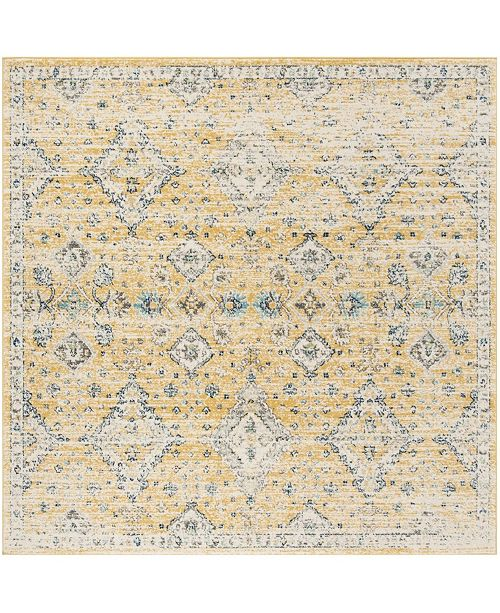 "Safavieh Evoke Gold and Ivory 6'7"" x 6'7"" Square Area Rug"