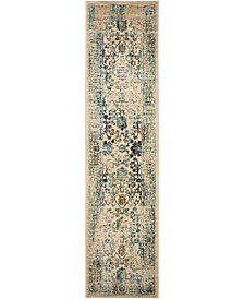 Safavieh Evoke Beige and Turquoise 2' x 8' Area Rug