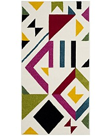 """Hollywood Ivory and Rose 2'7"""" x 5' Area Rug"""