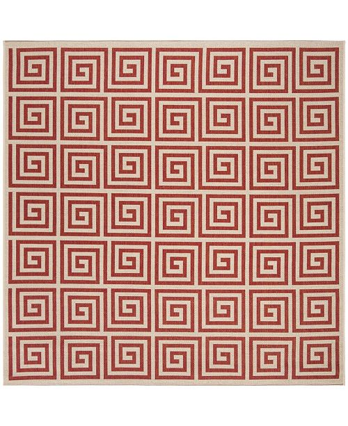 "Safavieh Linden Red and Creme 6'7"" x 6'7"" Square Area Rug"