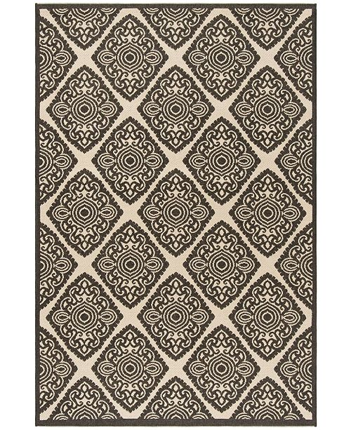Safavieh Linden Creme and Brown 4' x 6' Area Rug