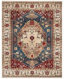 Kashan Ivory and Blue 8' x 10' Sisal Weave Area Rug