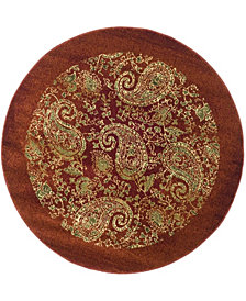 "Safavieh Lyndhurst Red and Multi 5'3"" x 5'3"" Round Area Rug"