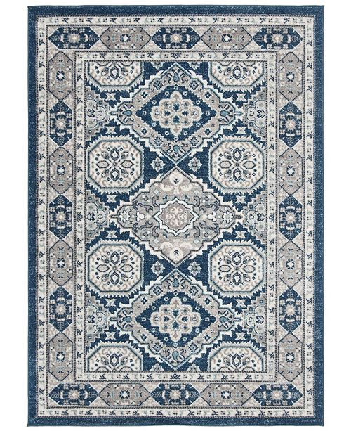 "Safavieh Madison Navy and Gray 5'3"" x 7'7"" Area Rug"