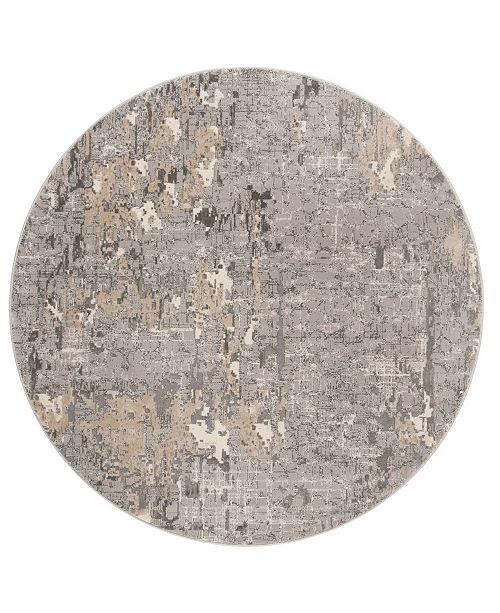 "Safavieh Meadow Gray 6'7"" x 6'7"" Round Area Rug"