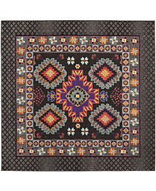 "Safavieh Monaco Brown and Multi 6'7"" x 6'7"" Square Area Rug"