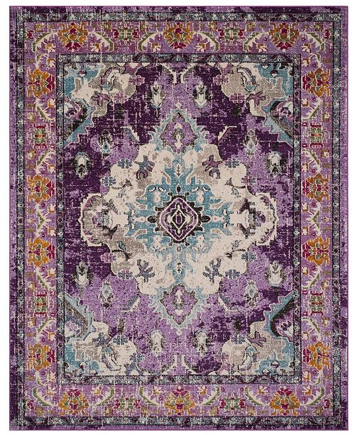 Monaco Violet And Light Blue 8 X 10 Area Rug