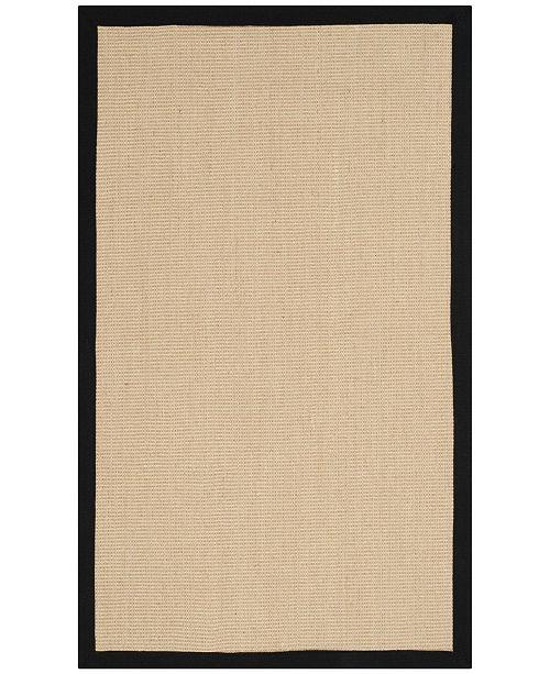 Safavieh Natural Fiber Beige and Black 3' x 5' Sisal Weave Area Rug