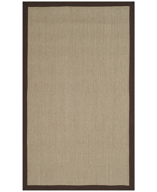 Safavieh Natural Fiber Sage and Brown 3' x 5' Sisal Weave Area Rug