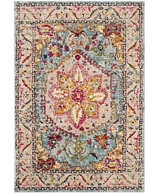 "Safavieh Phoenix Turquoise and Beige 5'1"" x 7'6"" Area Rug"