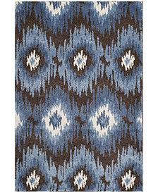 Safavieh Retro Dark Brown and Blue 4' x 6' Area Rug