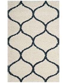Hudson Ivory and Slate Blue 4' x 6' Area Rug