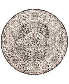 Safavieh Vintage Persian Dark Gray and Ivory 5' x 5' Round Area Rug