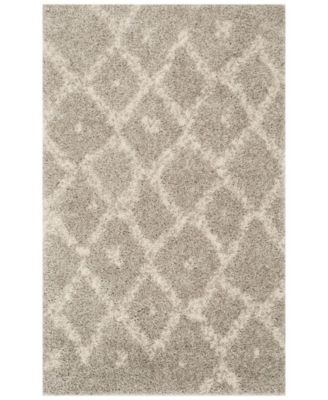Arizona Shag Gray and Ivory 8' x 10' Area Rug