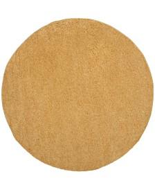"Safavieh Arizona Shag Gold 6'7"" x 6'7"" Sisal Weave Round Area Rug"