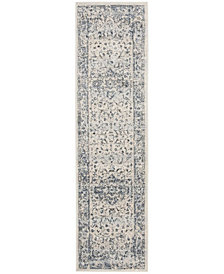 Safavieh Charleston Ivory and Navy 2' x 8' Area Rug