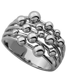 925 Sterling Silver Bubble Design Band Ring