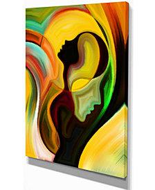 "Designart Way Of Parenting Abstract Canvas Artwork - 12"" X 20"""