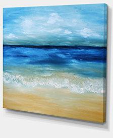 """Designart Warm Tropical Sea And Beach Seascape Canvas Art Print - 20"""" X 12"""""""