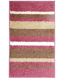 Avalon Non-Slip Stripe Shaggy Bath Mat Collection