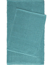 Home Dynamix Nicole Miller Newton Reversible Cut and Loop Pebbled 2-Piece Cotton Bath Mat Set