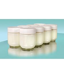Euro Cuisine GY1920 Glass Jars- Set 8 For Euro Cuisine Yogurt Maker