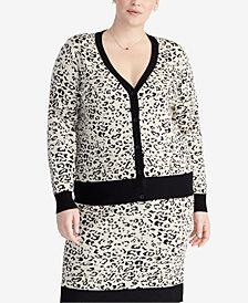 RACHEL Rachel Roy Trendy Plus Size Printed Cardigan